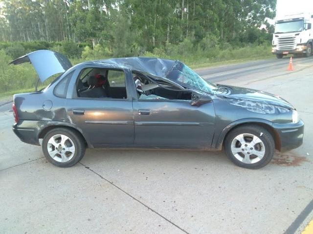 Volcó un automóvil en la Autovía 14 y sus tres ocupantes resultaron con lesiones.