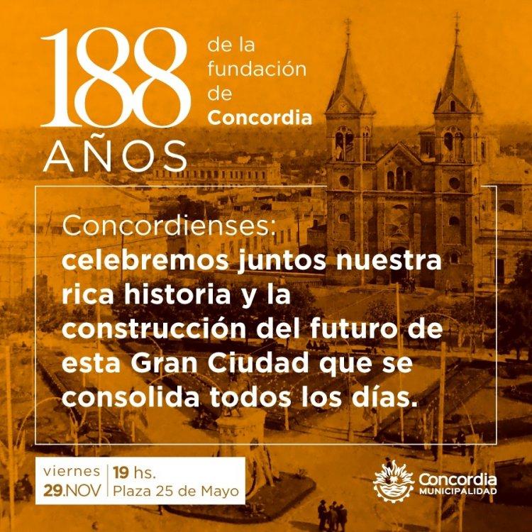 Resultado de imagen para Concordia cumple 188 años de su fundación